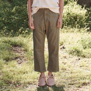THE GREAT. Ranger Army Corduroy High Waisted Pants
